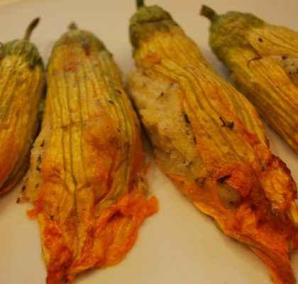 Ricetta fiori di zucca ripieni