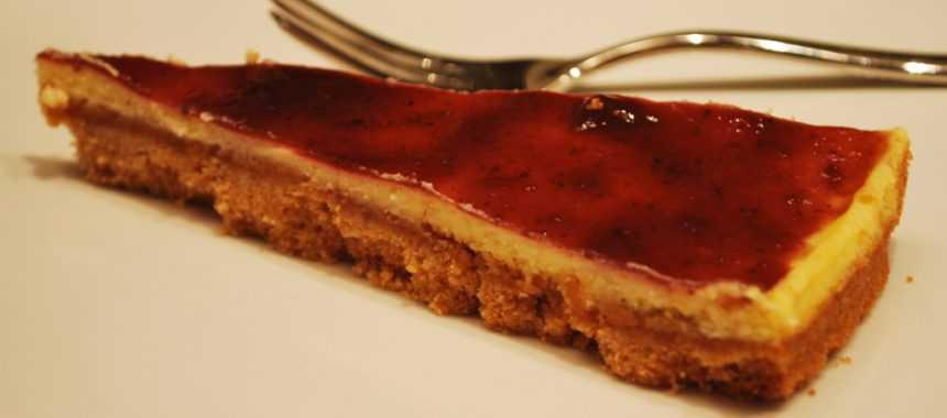 Torta di biscotti Zalet con ricotta e marmellata