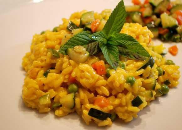 Risotto alle verdure e zafferano - Ricetta