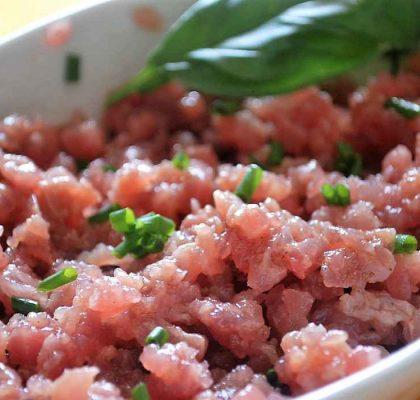 Ricetta tartare di tonno aromatizzata allo zenzero