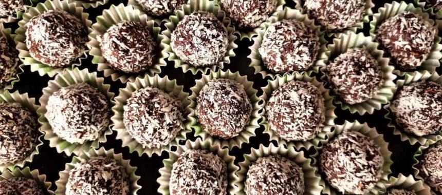 Palline di cioccolato e mascarpone al cocco